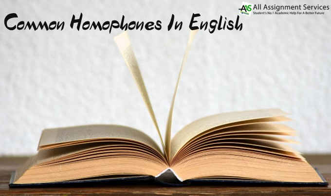 Common Homophones In English