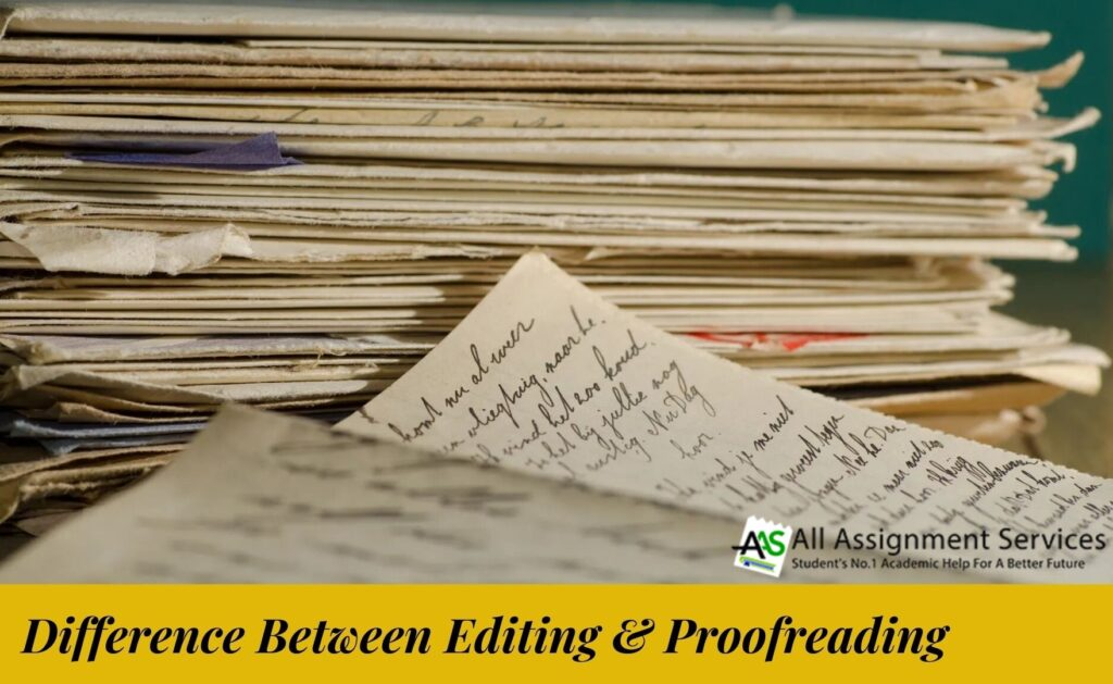 Difference between editing & proofreading