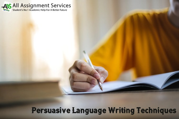 Persuasive language writing