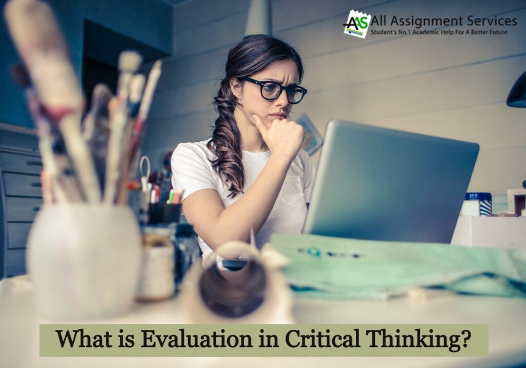 What is evaluation in critical thinking_