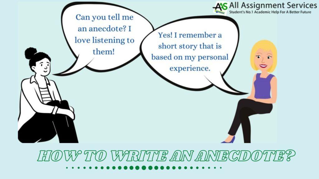 anecdote writing