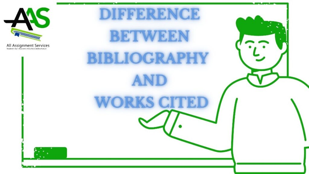 Difference between bibliography and works cited